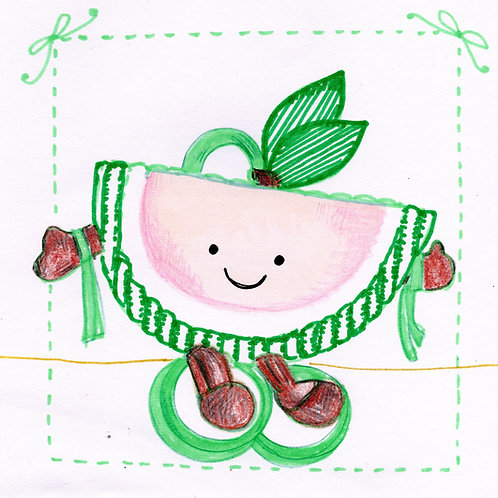 Watermelon Baby Activity Toy Card