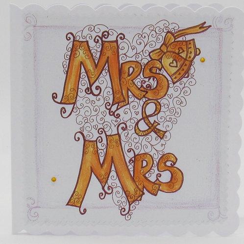 Wedding card Mrs & Mrs