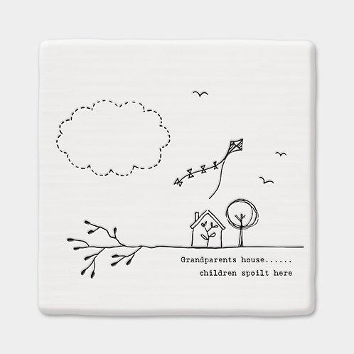 Porcelain Grandparent Coaster