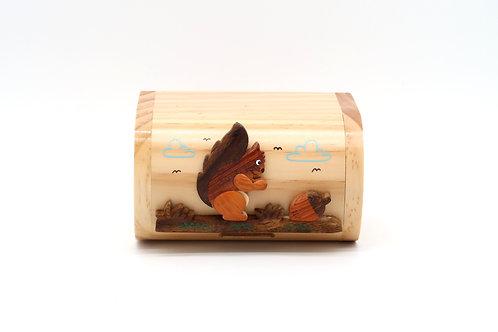 Wooden Squirrel Moneybox