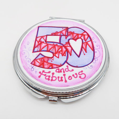 50 and Fabulous Compact Mirror