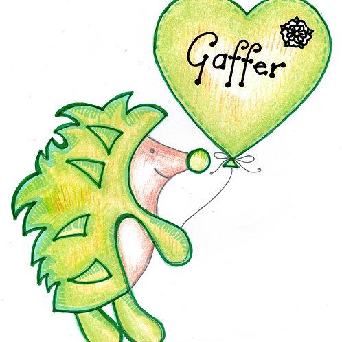 Green Hedgehog Gaffer Card