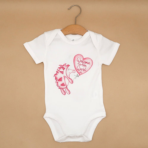 Pink Welcome to the World Babyvest