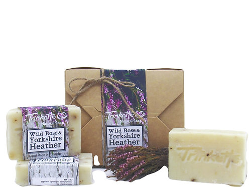 Natural soap gift box wild rose and yorkshire heather