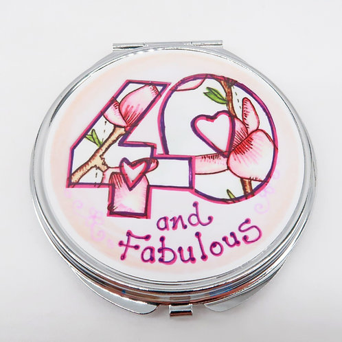 40 and Fabulous Compact Mirror