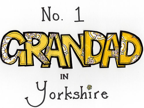 No. 1 Grandad in Yorkshire Cushion Cover