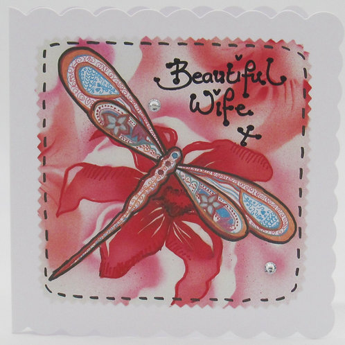 Beautiful Wife Dragonfly Card