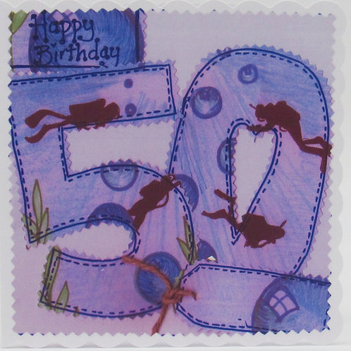 Personalised 50th Divers Birthday Card