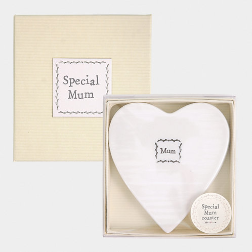 Boxed Special Mum Heart Coaster
