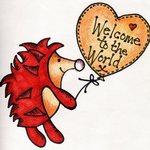 Welcome to the World Hedgehog Card