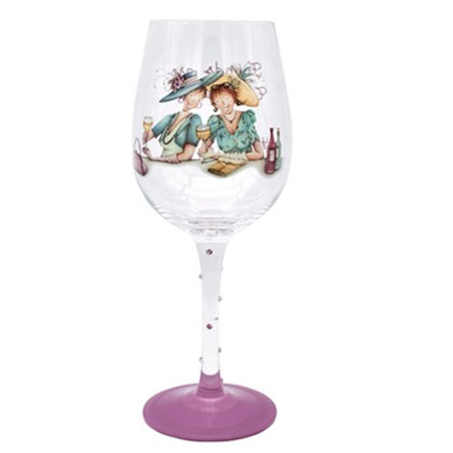 Friends are Like Therapists Wine Glass