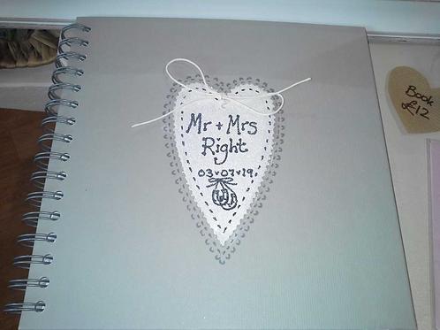 Personalised wedding book