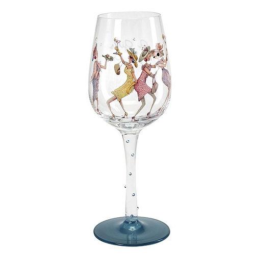 Girls Night Out Wine Glass