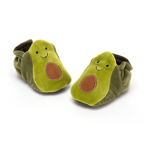 Avocado booties by Jellycat