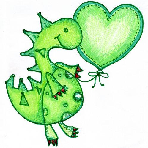New Baby Dinosaur Card