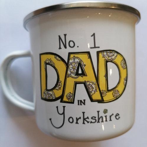 No. 1 Dad in Yorkshire metal cup