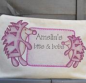 Hedgehog bag unique personalised design