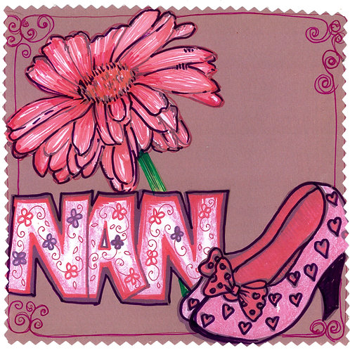 Nan with Shoes & Flower
