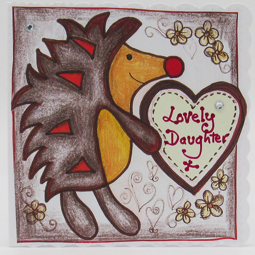 Lovely Daughter Hedgehog Card