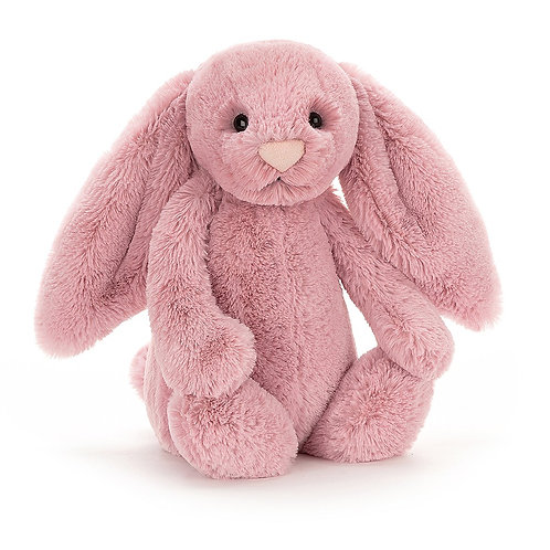 Jellycat Medium Bashful Bunny in Tulip pink