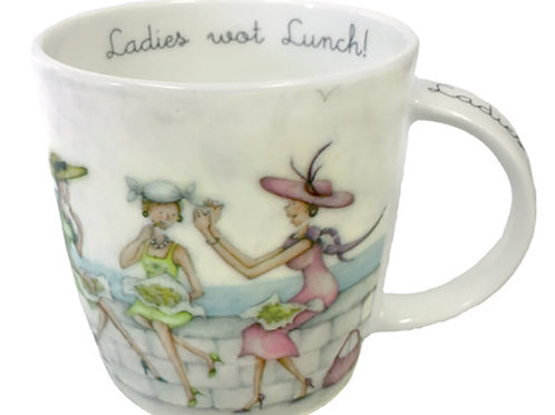 Ladies Wot Lunch Bone China Cup