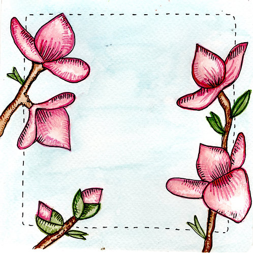 Japanese Roses Card