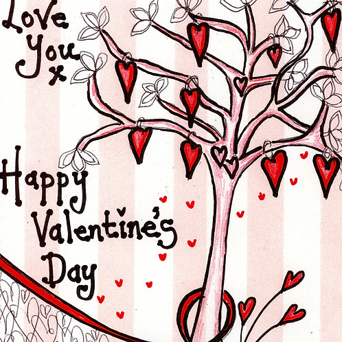 Hearted Tree Valentine's Card