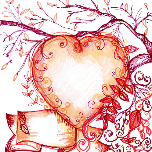 Heart & Tree Card