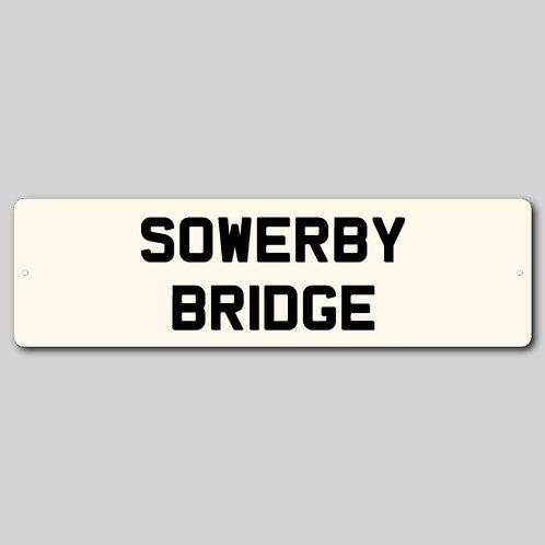 Sowerby Bridge Personalised sign