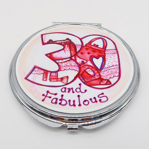 30 and Fabulous Compact Mirror