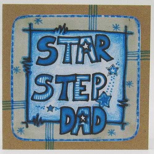 Star Step Dad Card