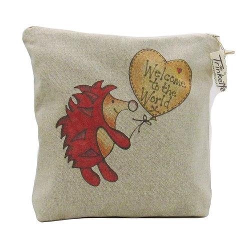 Linen Hedgehog bag