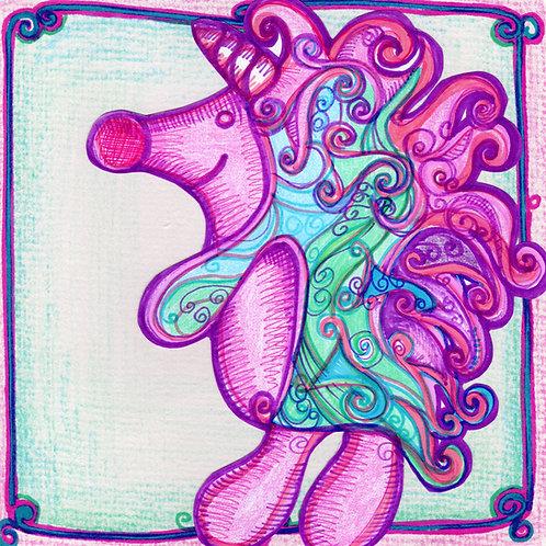 Colourful Unicorn Card