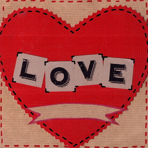 Big Red Heart Card