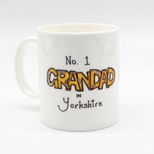 No 1 Grandad in Yorkshire China Cup