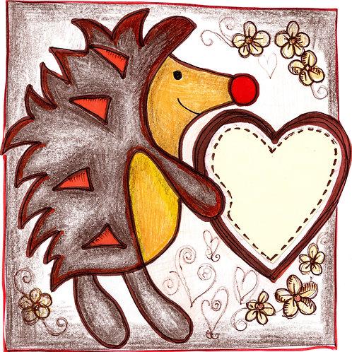 Brown Hedgehog Card