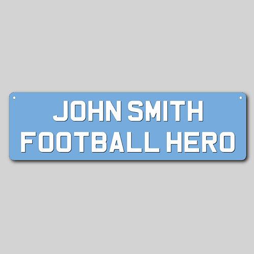 Personalised Football Metal Sign