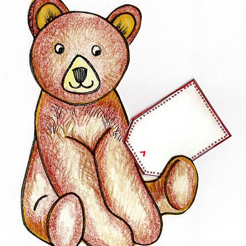 Big Brown Bear Card