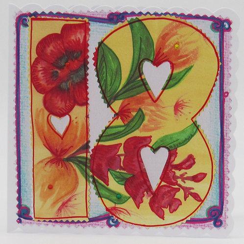 18th Flower Card