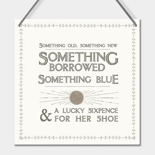 Wedding Sixpence Sign