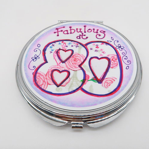 Fabulous at 80 Compact Mirror