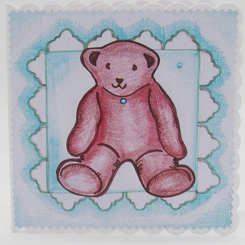 Personalised Teddy Card
