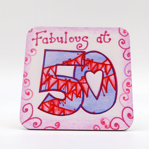 Fabulous at 50 Coaster