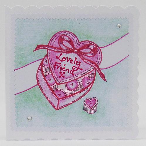 Lovely Friend Heart Card