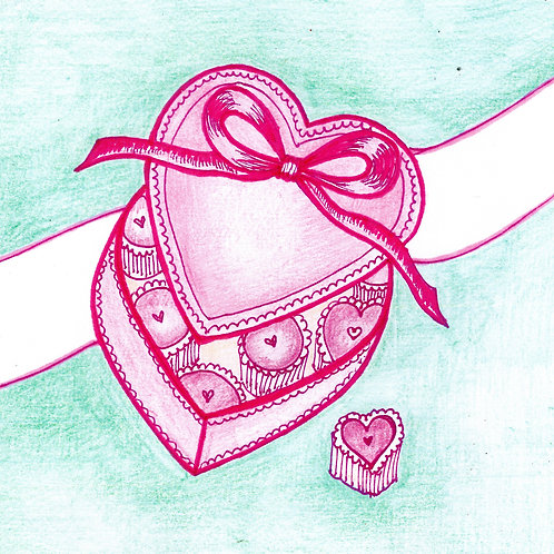Pink Heart Box Card