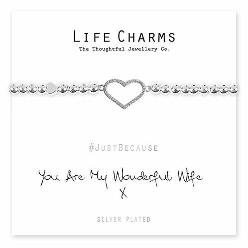 You Are My Wonderful Wife Bracelet