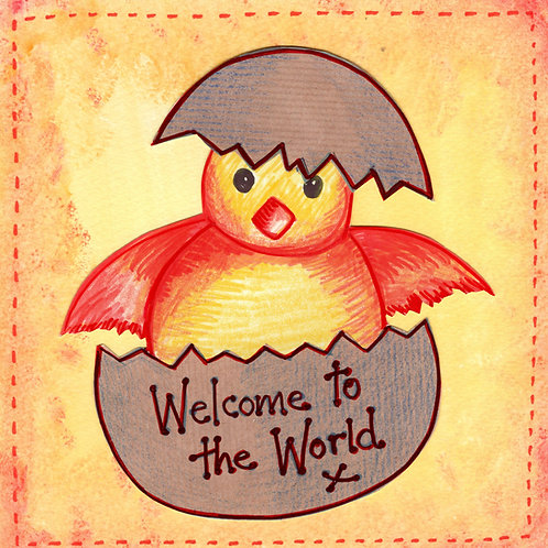 New Baby Chick  Card