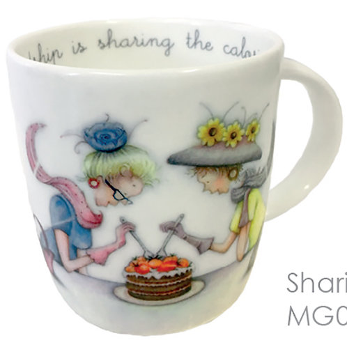 Friendship is sharing the Calories Bone China Cup