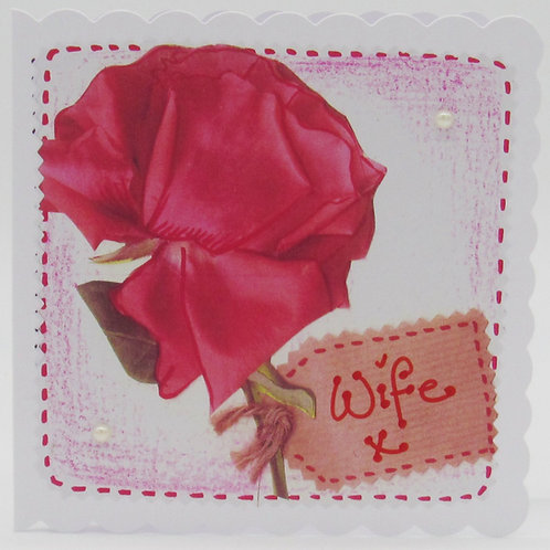 Red Rose Wife Card