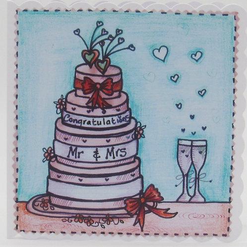 Wedding Cake Card